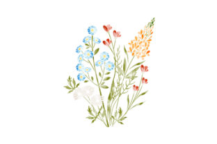 Watercolor Wildflowers Nature & Outdoors Craft Cut File By Creative Fabrica Crafts