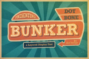 Print on Demand: Bungker Display Font By Alit Design