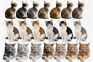 Print on Demand: Cats Clipart Cat Breeds Cat Bundle Graphic Illustrations By LeCoqDesign 2