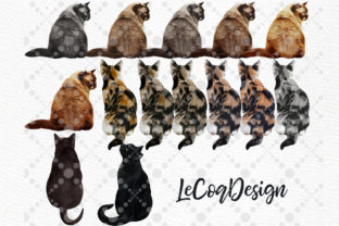 Print on Demand: Cats Clipart Cat Breeds Cat Bundle Graphic Illustrations By LeCoqDesign 4