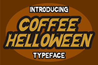 Print on Demand: Coffee Halloween Display Font By Letter Fia