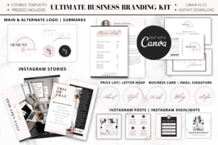 Print on Demand: Complete Business Branding Kit for Canva Graphic Graphic Templates By Ayesha Design 2