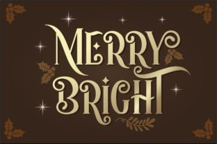 Print on Demand: Happy Holidays Display Font By HansCo 2
