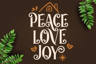 Print on Demand: Happy Holidays Display Font By HansCo 3