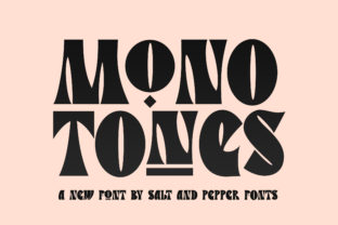 Print on Demand: Monotones Display Font By Salt and Pepper Fonts
