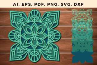 Print on Demand: Multi Layer Mandala Svg Paper Cut File Graphic 3D SVG By NGISED