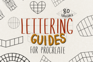 Procreate Lettering Guides Graphic Brushes By designavmad