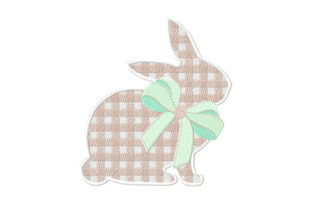 Rabbit with 3D Bow Easter Embroidery Design By ArtDigitalEmbroidery