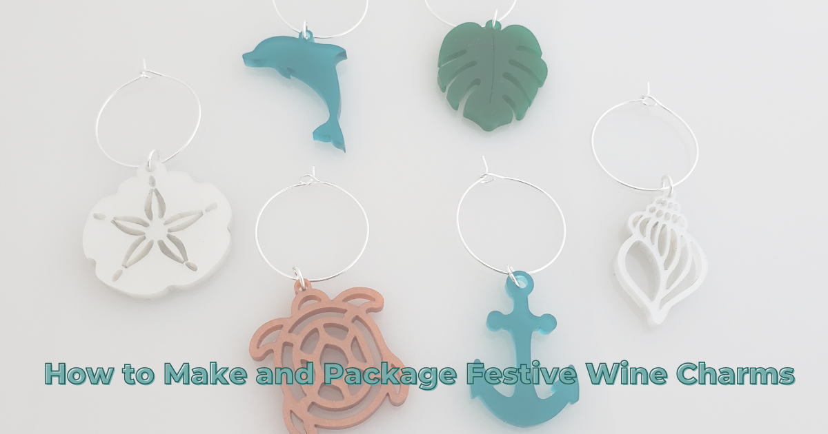 How Make and Package Festive Wine Charms