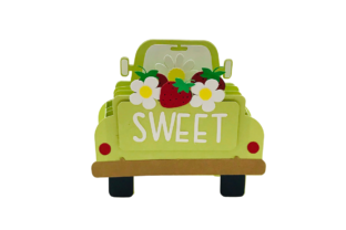 3D Vintage Truck Strawberry Box Card 3D SVG Craft Cut File By Creative Fabrica Crafts