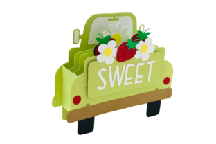 3D Vintage Truck Strawberry Box Card 3D SVG Craft Cut File By Creative Fabrica Crafts 2