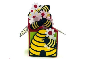 3D Beehive and Honeycomb Box Card 3D SVG Craft Cut File By Creative Fabrica Crafts 1