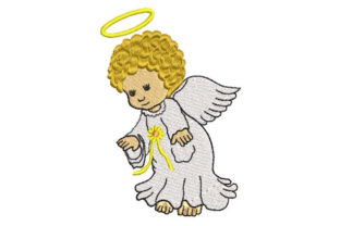 Baby Angel Religion & Faith Embroidery Design By Embroiderypacks