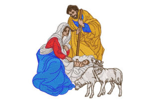 Birth of Baby Jesus Christmas Embroidery Design By Embroiderypacks
