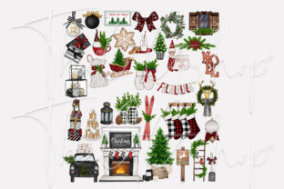 Print on Demand: FARMHOUSE HYGGE CHRISTMAS CLIPARTS Graphic Illustrations By TheGGShop 2