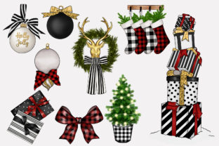 Print on Demand: FARMHOUSE HYGGE CHRISTMAS CLIPARTS Graphic Illustrations By TheGGShop 3