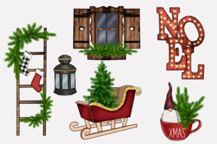 Print on Demand: FARMHOUSE HYGGE CHRISTMAS CLIPARTS Graphic Illustrations By TheGGShop 5