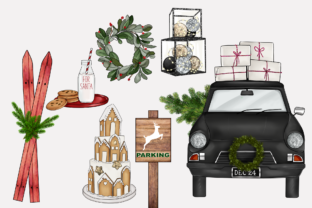 Print on Demand: FARMHOUSE HYGGE CHRISTMAS CLIPARTS Graphic Illustrations By TheGGShop 6