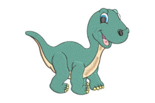 Green Dinosaur Dinosaurs Embroidery Design By Embroiderypacks
