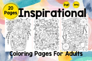 Inspirational Coloring Pages Volume - 1 Graphic Coloring Pages & Books By Creative Artist