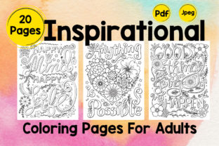 Inspirational Coloring Pages Volume - 3 Graphic Coloring Pages & Books By Creative Artist