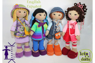 Print on Demand: Match and Mix Crew Crochet Doll Patterns Graphic Crochet Patterns By LetoDolls