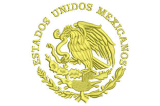 Mexico Eagle Shield Mexico Embroidery Design By Embroiderypacks