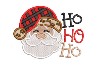 Santa Claus Face Christmas Embroidery Design By Embroiderypacks