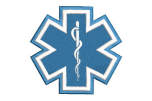 Star of Life Work & Occupation Embroidery Design By Embroiderypacks