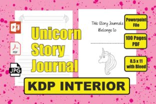 Unicorn Story Journals KDP Interior Graphic Teaching Materials By Image Design