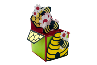 3D Beehive and Honeycomb Box Card 3D SVG Craft Cut File By Creative Fabrica Crafts 2