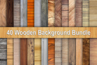 Print on Demand: Wooden Background Bundle, Wood Texture Graphic Backgrounds By CFSHOP