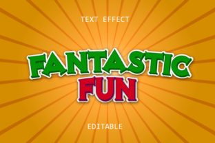 Print on Demand: Fantastic Fun Text Effect Graphic Layer Styles By 5amil.studio55