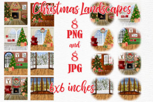 Print on Demand: Christmas Scenery Christmas Landscapes Graphic Illustrations By LeCoqDesign 1