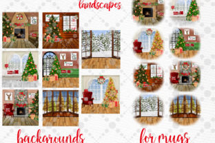Print on Demand: Christmas Scenery Christmas Landscapes Graphic Illustrations By LeCoqDesign 2