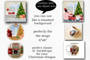 Print on Demand: Christmas Scenery Christmas Landscapes Graphic Illustrations By LeCoqDesign 3