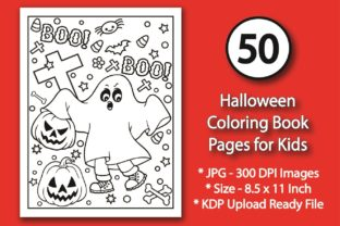 Halloween Coloring Pages for Kids Graphic KDP Interiors By eliteasia