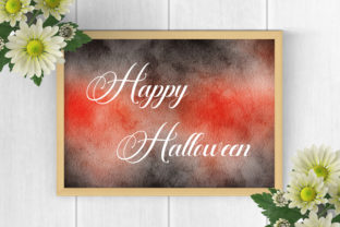 Print on Demand: Halloween Watercolor Background Texture Graphic Backgrounds By PinkPearly 5