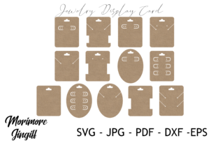 Print on Demand: Jewelry Display Card Template SVG Graphic 3D SVG By morimorejingiff