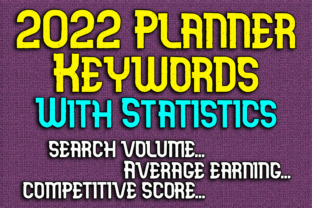 Print on Demand: 2022 Planner Keywords with Statistics Graphic KDP Interiors By Mary's Designs