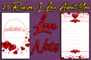 Print on Demand: 25 Things I Love About You Love Notes Graphic KDP Interiors By Mary's Designs