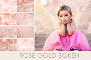 Print on Demand: Bokeh Rose Gold Graphic Backgrounds By The Rose Mind