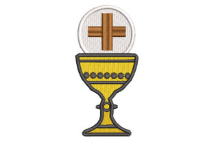 Chalice Cup with Cross Religion & Faith Embroidery Design By Embroiderypacks