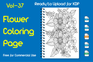 Flower Coloring Book Floral KDP Interior Graphic KDP Interiors By Golam Kader Riad
