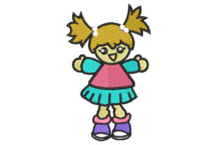 Girl Doll Toys & Games Embroidery Design By Embroiderypacks