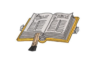 Open Bible Religion & Faith Embroidery Design By Embroiderypacks