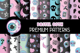 Print on Demand: Pastel Goth Digital Papers Pattern Graphic Patterns By Grafixeo