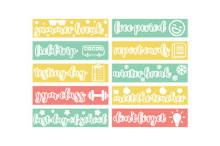 School Planner Stickers Planner Craft Cut File By Creative Fabrica Crafts
