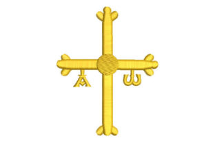 Asturian Cross Work, Religion & School Embroidery Design By Embroiderypacks