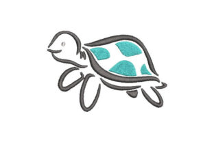 Baby Turtle Baby Animals Embroidery Design By Embroiderypacks